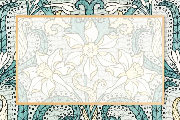 Cadre à motifs floraux vintage