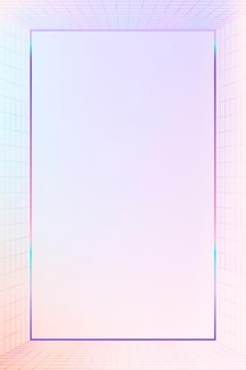 Cadre à motifs de grille pastel 3d