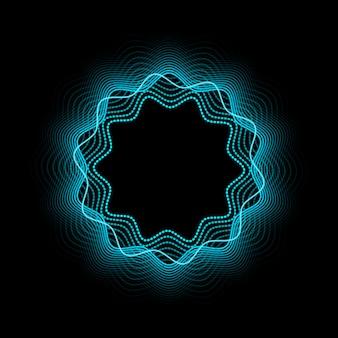 Cadre néon abstrait. effet néon brillant et brillant.