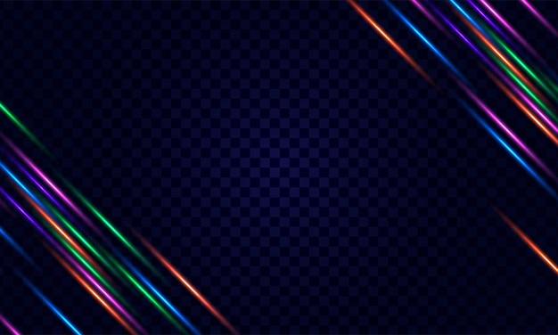 Cadre néon lumineux pour bannière ou signe isolé sur fond transparent