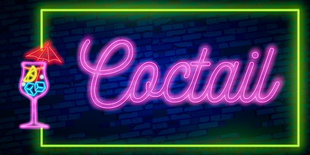 Cadre néon night club