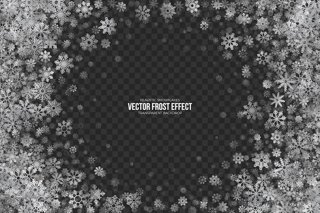Cadre de noël 3d effet frost neige