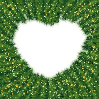 Cadre de noël en forme de coeur.