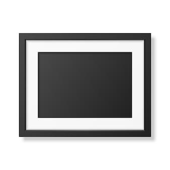 Cadre noir réaliste a4