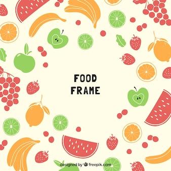Cadre de nourriture avec des fruits