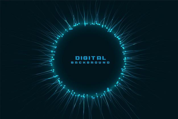 Cadre numérique de réseau technologique avec espace de texte