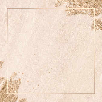 Cadre or rectangle sur fond de texture