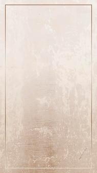 Cadre or rectangle sur un vecteur de fond brun grunge