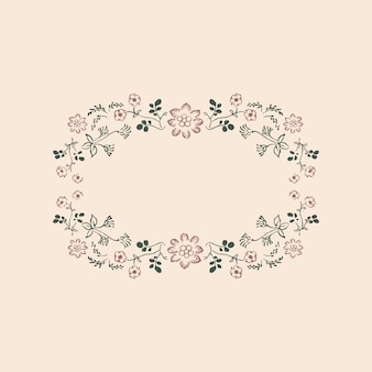 Cadre d'ornement floral vintage