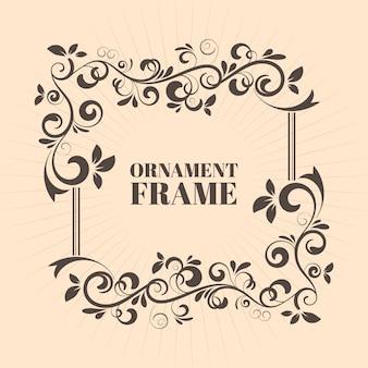 Cadre ornemental décoratif image vectorielle