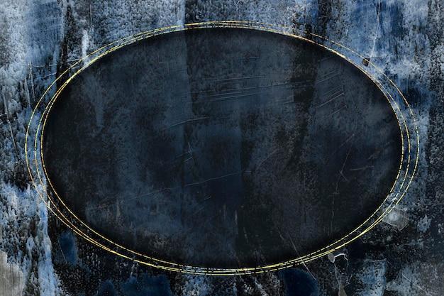 Cadre ovale en or sur le vecteur de fond abstrait