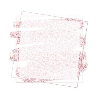 Cadre de paillettes d'or rose rose