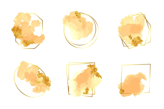 Cadre de paillettes sertie de coups de pinceau aquarelle