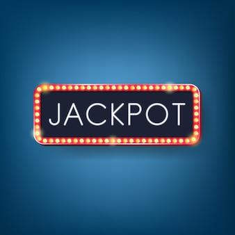 Cadre de panneau d'affichage des ampoules jackpot