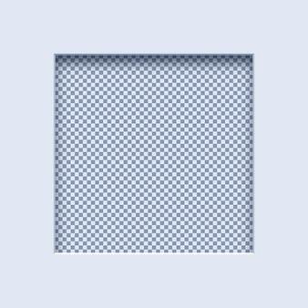 Cadre en papier blanc carré réaliste
