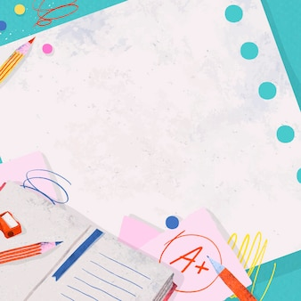 Cadre de papier de note vierge