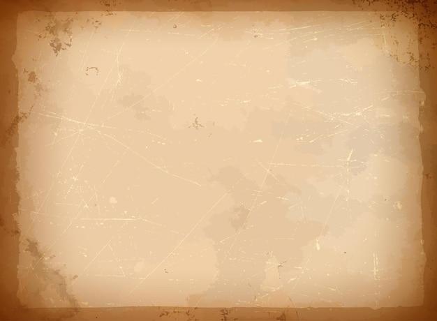Cadre en papier vieilli