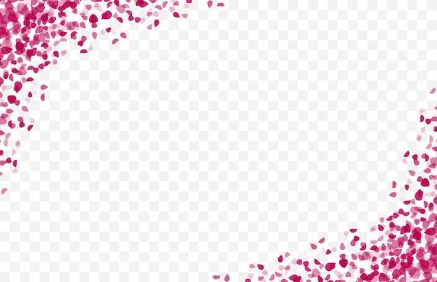 Cadre de pétales de rose, bordure pour décorations et illustration de carte