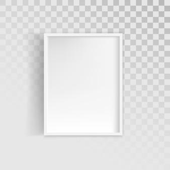 Cadre photo blanc blanc