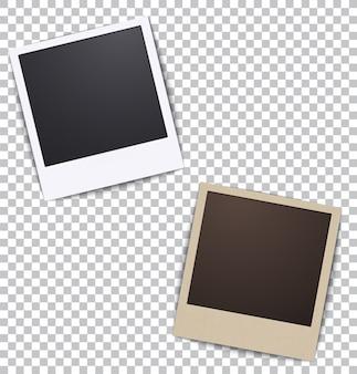 Cadre photo blanc un plaid avec une ombre