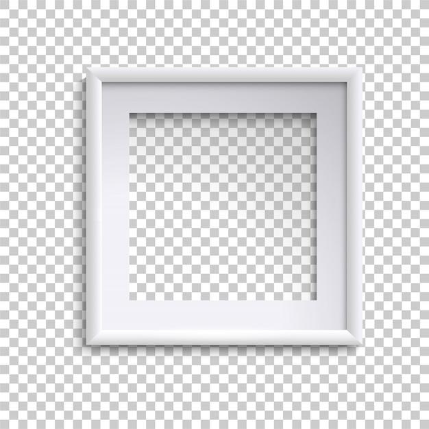 Cadre photo blanc vide, cadre photo vide carré