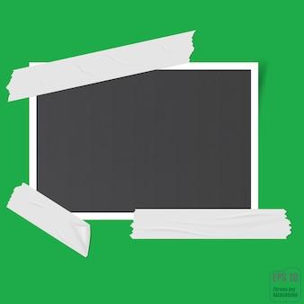 Cadre photo. bordure en plastique blanc. cadre photo vide.