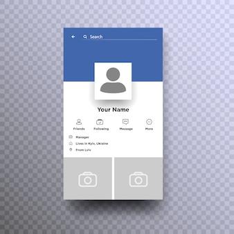 Cadre photo. cadre photo de réseau social. formulaire de profil.