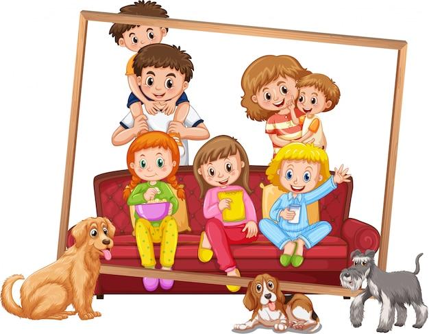 Un cadre photo de famille