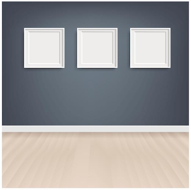 Cadre photo avec fond gris