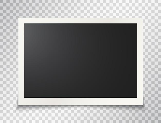 Cadre photo sur fond transparent