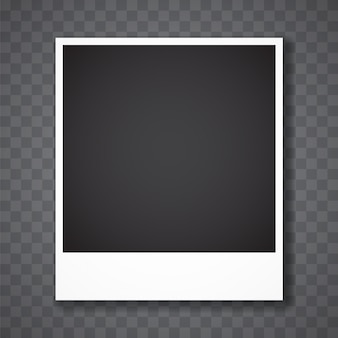 Cadre photo avec fond transparent