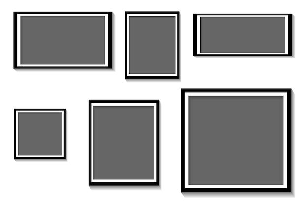 Cadre photo sur illustration vectorielle fond blanc