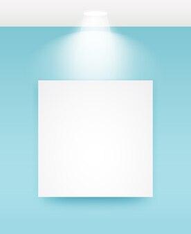 Cadre photo avec illustrations lumineuses