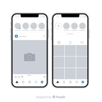 Cadre photo instagram réaliste sur iphone collection