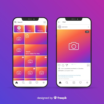 Cadre photo instagram réaliste sur iphone collection
