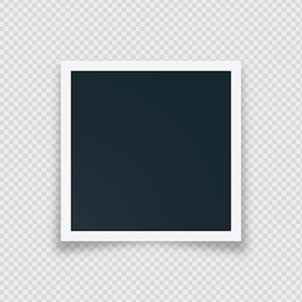 Cadre photo instantané rétro blanc