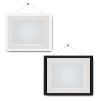 Cadre photo isolé fond blanc