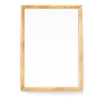 Cadre photo isolé sur un mur.