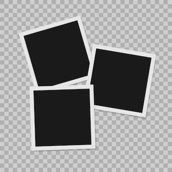 Cadre photo réaliste vide de bordure de photo instantanée