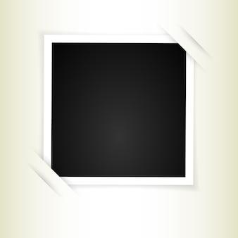 Cadre photo rétro avec des ombres. illustration.