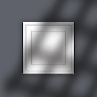 Cadre photo avec superposition d'ombres