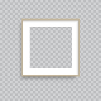 Cadre photo transparent en bois marron