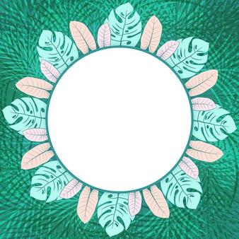 Cadre photo vert frais cercle tropical