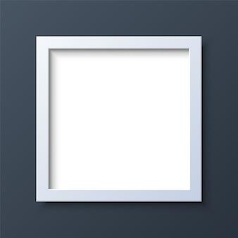 Cadre photo vide carré réaliste