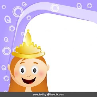Cadre avec la princesse