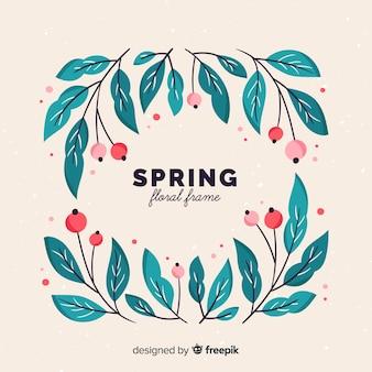 Cadre de printemps feuille cadre
