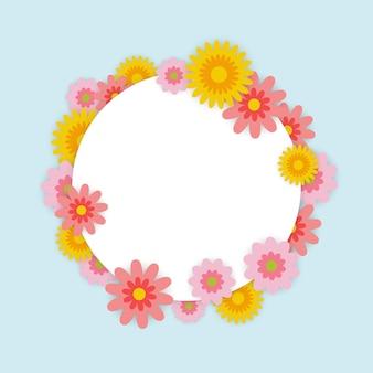 Cadre de printemps avec fleur colorée.