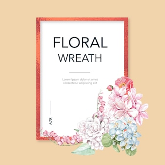 Cadre de printemps floral