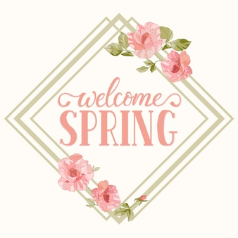 Cadre de printemps