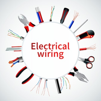 Cadre réaliste de câbles électriques